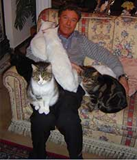 Peter with cats